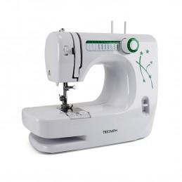 TRIOMPH ETF1527 Machine à Coudre Domestique Blanc-Vert 33,5 x 14,5 x 24 cm