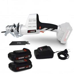 Scie a Ebrancher Portative 20V - Coupe BOIS et METAL -2700 T-min - Xperformer XPCBR20LI -  2 Batteries 2Ah et chargeur inclus