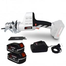 Scie a Ebrancher Portative 20V - Coupe BOIS et METAL -2700 T-min - Xperformer XPCBR20LI - 2 Batteries 4Ah et chargeur inclus