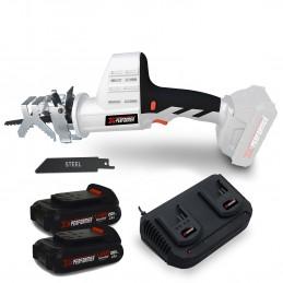 Scie a Ebrancher Portative 20V Coupe BOIS et METAL -2700 T-min Xperformer XPCBR20LI -  2 Batteries 2Ah et DOUBLE chargeur inclus