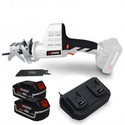 Scie a Ebrancher Portative 20V Coupe BOIS et METAL -2700 T-min Xperformer XPCBR20LI - 2 Batteries 4Ah et DOUBLE chargeur inclus