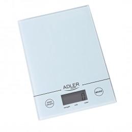Balance de cuisine Adler AD 3138 blanche - Charge max 1kg - précision 1g - Ecran LCD