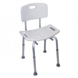 Chaise de douche avec dossier à hauteur réglable - VB540S Aidapt