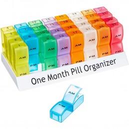 Aidapt - Range-Comprimés, Pilulier Mensuel et Coloré