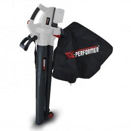 Aspirateur souffleur broyeur de feuilles 40V à batterie X-Performer XPASB40LI-2B - Sac récolteur 45L - sans batterie ...