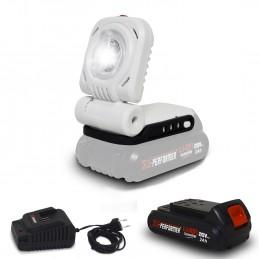 Lampe de travail - Bricolage - Jardinage à batterie 20V - X-Performer XPSPL20LI à Eclairage LED 3W + Batterie 2 Ah et...