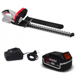 Taille haies rechargeable 20V à batterie X-Performer XPTH20LI + Batterie 4 Ah et chargeur - Cache de protection pour ...