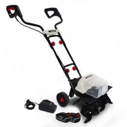Motobineuse 40V - X-Performer XPMTBE20LI - Larg. de travail 35cm - 4 fraises - 2x BATTERIES XPBAT4A Inclus + Chargeur