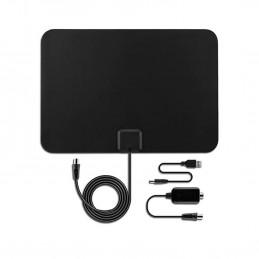 Antenne TV intérieur puissante avec Amplificateur intégré TNT Numérique - Ultra Plate