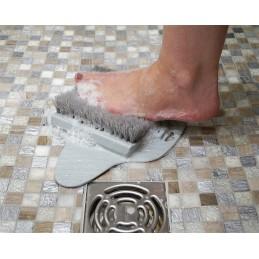 Brosse pour les pieds avec base anti derapante - Frottez vos pieds sans efforts