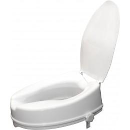 Siège de toilette surélevé en plastique avec couvercle Senator blanc - Hauteur 10 cm