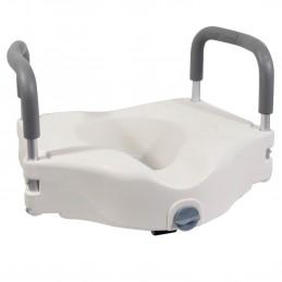 Siège de toilette surélevé en plastique blanc Senator avec bras - hauteur 16 cm