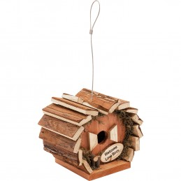 Nichoir Maison de nidification pour oiseaux St Helens faite à la main - Bois - Boucle de suspension solide