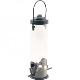 Mangeoire à oiseaux suspendue de jardin St Helens Transparente - 2 points d'alimentation avec perchoirs