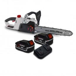 Tronçonneuse 40V (2x20V) X-Performer XPTRO40LI-2B - Double Sécurité - Graissage Auto + 2 Batteries 4 Ah - Double char...