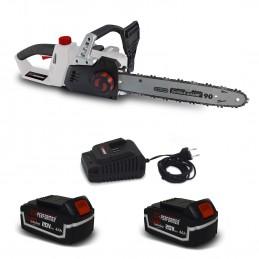 Tronçonneuse 40V (2x20V) X-Performer XPTRO40LI-2B - Double Sécurité - Graissage Auto + 2 Batteries 4 Ah - chargeur