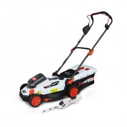 Pack Tondeuse à gazon et Cisaille de jardin sur batterie - X-Performer XPTDE3320LI / XPCSTH20LI -- sans batterie ni c...