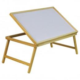 Table de lit avec pieds pliants, pour servir le petit déjeuner au lit ou comme table TV, plateau d'ordinateur portable