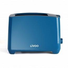 Grille-pain deux fentes Livoo DOD162B Bleu - Thermostat réglable - 750W
