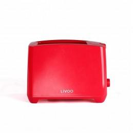 Grille-pain deux fentes Livoo DOD162R Rouge - Thermostat réglable - 750W