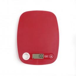 Balance de cuisine électronique rouge DOM351RC - Capacité 5 kg - ml ou g