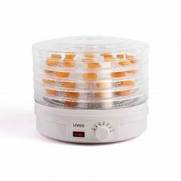 Déshydrateur livoo DOM394 - Thermostat, 5 plateaux de dessication - Diamètre 33 cm