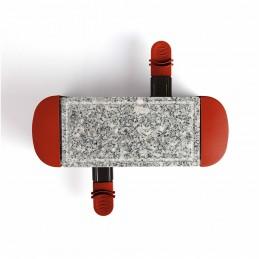 Appareil à raclette rouge 2 personnes + 2 caquelons - 350W - plateau amovible en granite