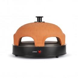 Pizza Party - Appareil à mini et grande pizza Livoo DOC226 - Dôme en terre cuite - 1200W