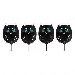 Dispositif d'effarouchement des oiseaux et des petits mammifères avec yeux réfléchissants réalistes - Lot de 4 - GH307