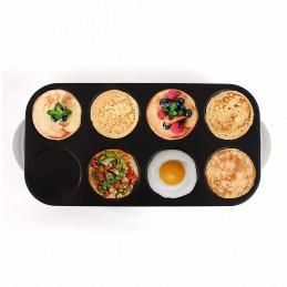 Crêpière Maxi crêpes / pancakes party avec revêtement anti-adhésif - 8 personnes - 1500W