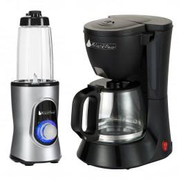Cafetiere 10 / 12 TASSES Black Pear BCM112 + Blender Black Pear BBL100 220W capacité 0.6L gris