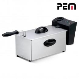 Friteuse à huile en inox 2000W - Capacité 3L avec cuve indépendante