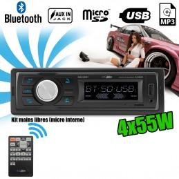 Autoradio Caliber RMD031BT 55W x 4 - Bluetooth - RDS/USB/SD/MP3/AUX/FM - Télécommande