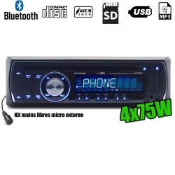 Autoradio Caliber RCD234BT 75W x 4 - Bluetooth - CD/RDS/USB/SD/MP3/AUX/FM