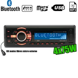 Autoradio Caliber RMD046BT-2 75W x 4 - Bluetooth - RDS/USB/SD/MP3/AUX/FM
