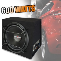 "Subwoofer + ampli intégré Caliber BC112SA - 12"" / 600 Watts - Plug and play"
