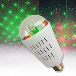 Ampoule MIA lumineuse Type Laser Rouge/Vert - 8 Motifs Culot E27