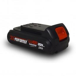 Batterie CONCEPT 20V Lithium 2 Ah compatible pour la gamme d'outils X-PERFORMER