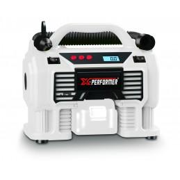 Gonfleur - Mini Compresseur - X-Performer XP2AIR20LI - sans fil 20V/12V - Pression 11 bar - sans batterie ni chargeur