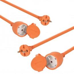 Lot de 2 RALLONGEs 25 m - 2G1.5 - câble: H05VV-F 2x1.5 mm² - puissance max.: 3500 W