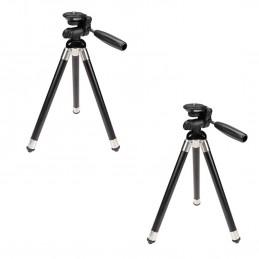 Lot de 2 Trépieds Télescopique pour caméra - Stabilié Maximale - Rotation Horizontale et Verticale