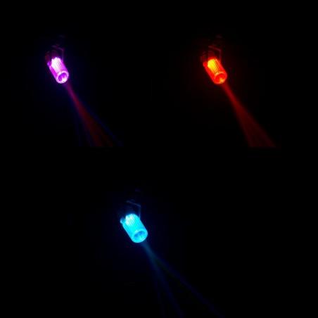 Lot de 4 LED Moonflower - Boîtier Transparent -   2 Lentilles / 114 LED
