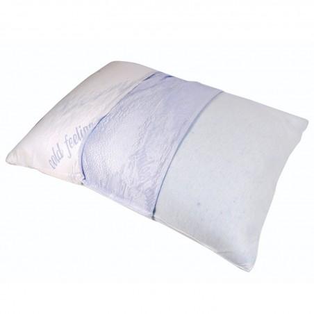 Oreiller Confort à mémoire de Forme  - 46cm x 61 cm - Mousse Rafraîchissante
