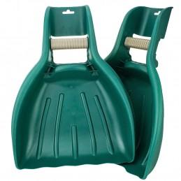 Lot de 2 Pinces à Feuilles - Ramassage Facile - Pelles de grande capacité - 44,5 cm x 41 cm x 6,4 cm