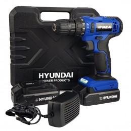 Perceuse Visseuse - HYUNDAI HPVD18L15-B - sans fil 20V 25NM - 2 Batteries 1,5Ah , chargeur et Coffret