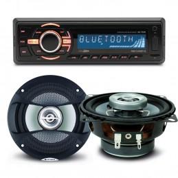 Pack sono voiture Autoradio bluetooth RMD046BT-2  4X75W + 2 haut parleurs 10cm 80W