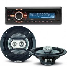 Pack sono voiture Autoradio bluetooth RMD046BT-2  4X75W + 2 haut parleurs 16,5m 120W