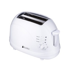White toaster 700W 2 wide...
