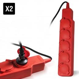 2 Blocks 5 Red Strip...