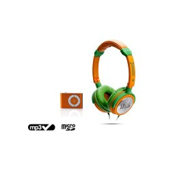 Green Helmet / Orange + MP3...